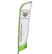Zoom feather flag banner